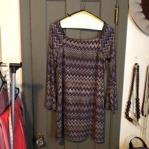 60's vibe metallic dress